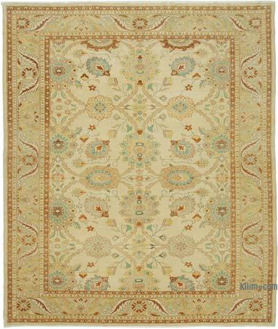 Beige New Hand Knotted All Wool Oushak Rug - 9'8'' x 11'7'' (116 in. x 139 in.)