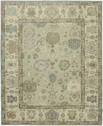 "New Hand Knotted All Wool Oushak Rug - 10'6"" x 12'10"" (126 in. x 154 in.)"