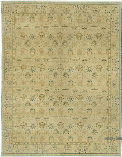 Beige New Hand Knotted All Wool Oushak Rug - 7'8'' x 9'11'' (92 in. x 119 in.)