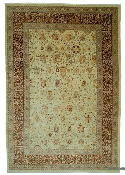 "New Hand Knotted All Wool Oushak Rug - 8'10"" x 12'11"" (106 in. x 155 in.)"