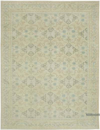 "New Hand Knotted All Wool Oushak Rug - 9' x 11'7"" (108 in. x 139 in.)"