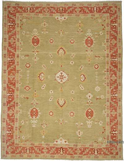 "New Hand Knotted All Wool Oushak Rug - 9'6"" x 12'6"" (114 in. x 150 in.)"