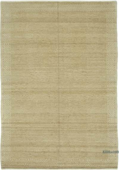 Beige New Hand Knotted All Wool Oushak Rug - 6' x 8'11'' (72 in. x 107 in.)