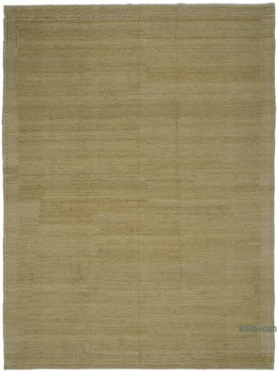 Beige New Hand Knotted All Wool Oushak Rug - 9'1'' x 12'1'' (109 in. x 145 in.)