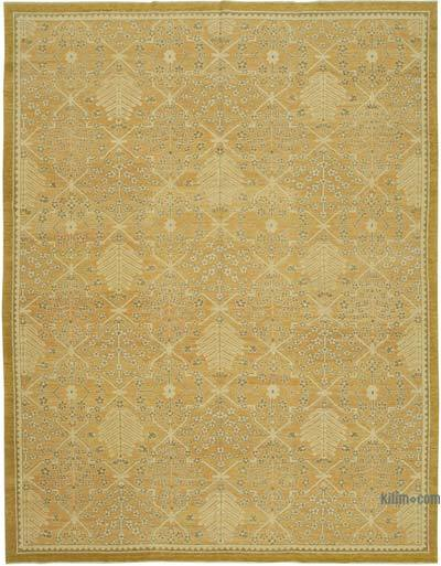 "New Hand Knotted All Wool Oushak Rug - 9'1"" x 12' (109 in. x 144 in.)"