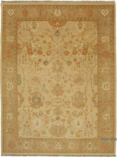 "New Hand Knotted All Wool Oushak Rug - 8'11"" x 12' (107 in. x 144 in.)"