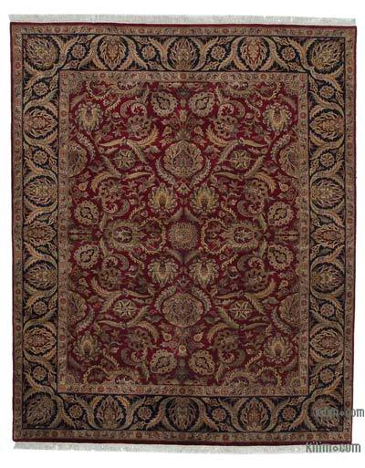 "New Hand Knotted All Wool Oushak Rug - 8'1"" x 9'11"" (97 in. x 119 in.)"