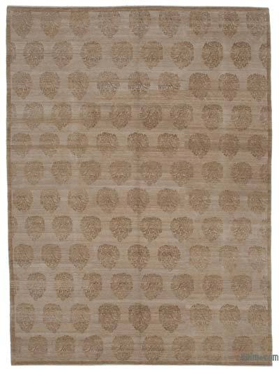 Beige New Hand Knotted All Wool Oushak Rug - 8'11'' x 12'2'' (107 in. x 146 in.)