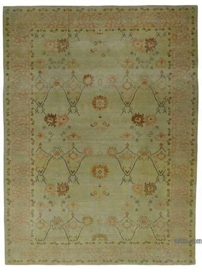 "New Hand Knotted All Wool Oushak Rug - 10'3"" x 13'9"" (123 in. x 165 in.)"