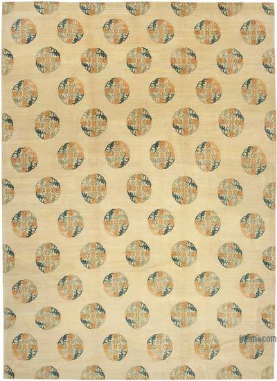 Beige New Hand Knotted All Wool Oushak Rug - 9'11'' x 13'11'' (119 in. x 167 in.)