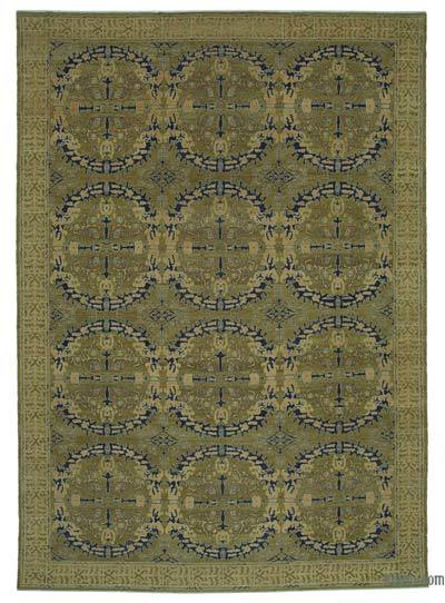 "New Hand Knotted All Wool Oushak Rug - 9'9"" x 14'1"" (117 in. x 169 in.)"