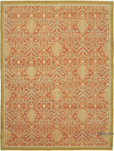 "New Hand Knotted All Wool Oushak Rug - 9'2"" x 12'3"" (110 in. x 147 in.)"