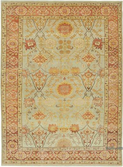 "New Hand Knotted All Wool Oushak Rug - 7'5"" x 10'2"" (89 in. x 122 in.)"