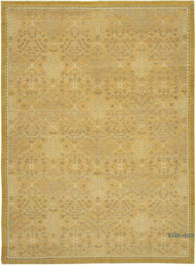 "New Hand Knotted All Wool Oushak Rug - 9'1"" x 12'8"" (109 in. x 152 in.)"