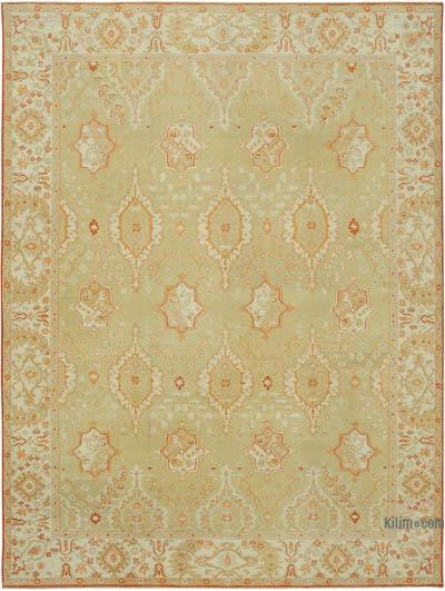 "New Hand Knotted All Wool Oushak Rug - 9'2"" x 12' (110 in. x 144 in.)"