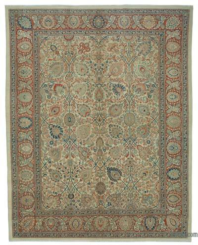 "New Hand Knotted All Wool Oushak Rug - 9'10"" x 12'4"" (118 in. x 148 in.)"