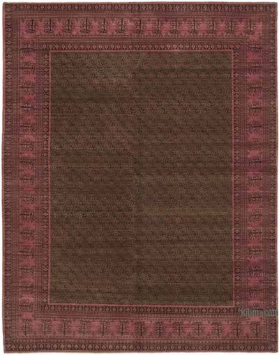 Fuchsia New Hand Knotted All Wool Oushak Rug - 7'10'' x 10' (94 in. x 120 in.)