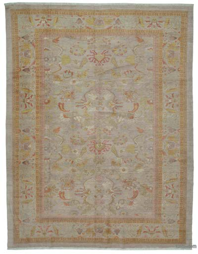 "New Hand Knotted All Wool Oushak Rug - 10'6"" x 13'9"" (126 in. x 165 in.)"