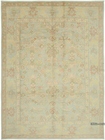 Blue New Hand Knotted All Wool Oushak Rug - 8' x 10' (96 in. x 120 in.)