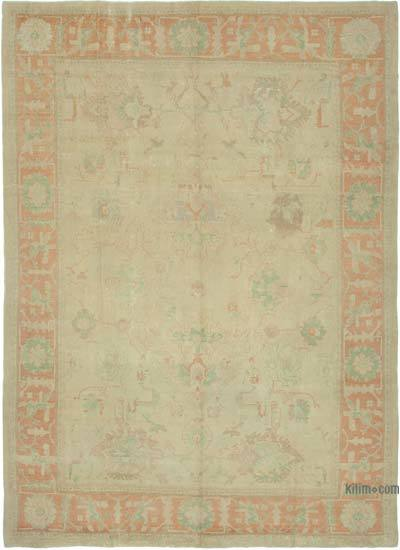 "New Hand Knotted All Wool Oushak Rug - 10'7"" x 15' (127 in. x 180 in.)"