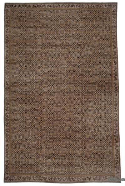 Brown New Hand Knotted All Wool Oushak Rug - 11'10'' x 18'1'' (142 in. x 217 in.)