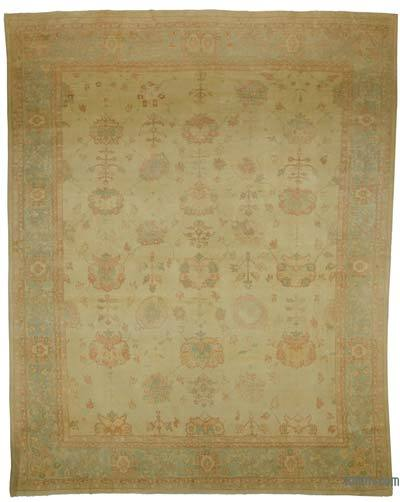 Beige New Hand Knotted All Wool Oushak Rug - 12'2'' x 15'4'' (146 in. x 184 in.)