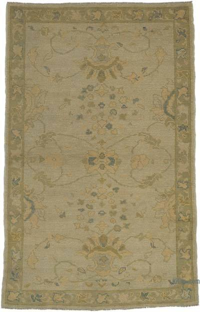 Yellow New Hand Knotted All Wool Oushak Rug - 3'9'' x 6' (45 in. x 72 in.)