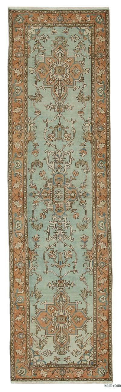 Blue New Ushak Runner Rug