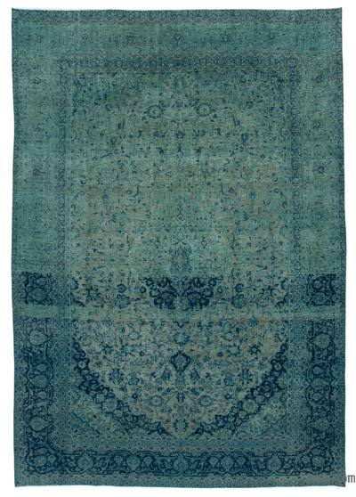 "Over-dyed Vintage Hand-knotted Oriental Rug - 8'10"" x 12'11"" (106 in. x 155 in.)"