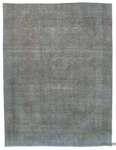 Grey Over-dyed Vintage Rug - 9'1'' x 11'10'' (109 in. x 142 in.)