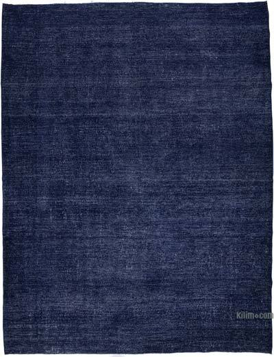 Blue Over-dyed Vintage Rug - 9'10'' x 12'8'' (118 in. x 152 in.)