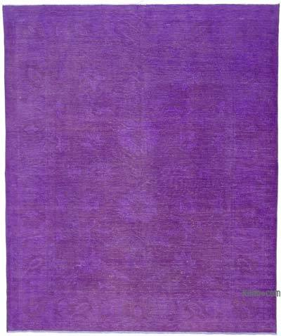 Over-dyed Vintage Rug - 7'9'' x 9'3'' (93 in. x 111 in.)