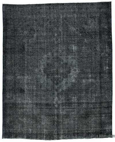 Black Over-dyed Vintage Rug - 9'6'' x 11'8'' (114 in. x 140 in.)