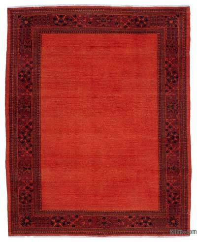 Orange Over-dyed Vintage Rug - 8'2'' x 10' (98 in. x 120 in.)
