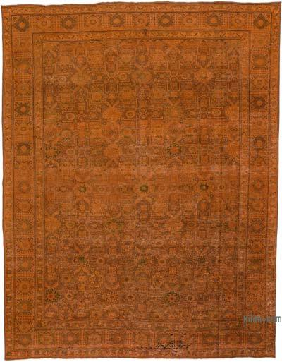 "Over-dyed Vintage Hand-knotted Oriental Rug - 9'9"" x 12'8"" (117 in. x 152 in.)"