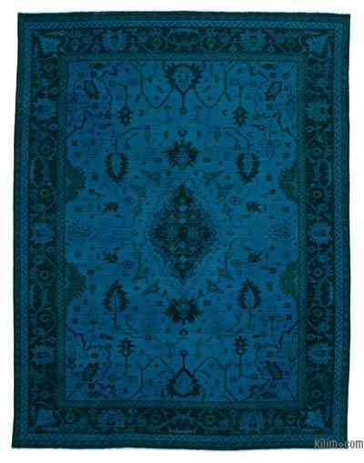 "Over-dyed Vintage Hand-knotted Oriental Rug - 8'10"" x 11'10"" (106 in. x 142 in.)"