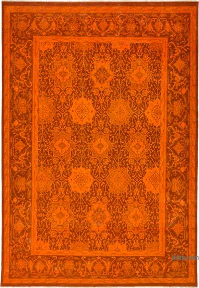 Orange Over-dyed Vintage Rug - 9'1'' x 13'3'' (109 in. x 159 in.)