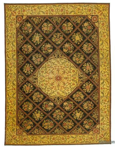 Yellow Over-dyed Vintage Rug - 9'7'' x 13'3'' (115 in. x 159 in.)