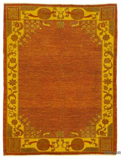 Orange Over-dyed Vintage Rug - 6'3'' x 8'2'' (75 in. x 98 in.)
