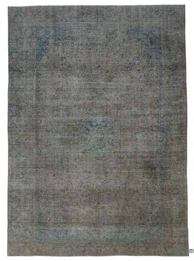 Grey Over-dyed Vintage Rug - 9' x 12'8'' (108 in. x 152 in.)
