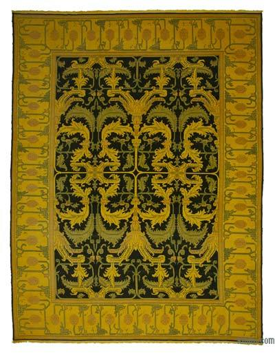 "Over-dyed Vintage Hand-knotted Oriental Rug - 10'2"" x 13'6"" (122 in. x 162 in.)"