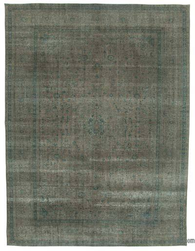 Grey Over-dyed Vintage Rug - 9'10'' x 12'10'' (118 in. x 154 in.)