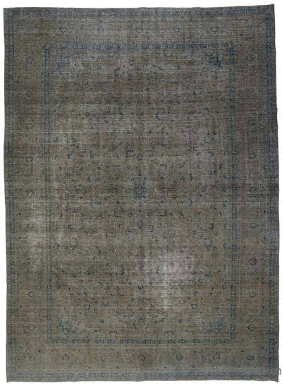 "Over-dyed Vintage Hand-knotted Oriental Rug - 9'9"" x 13'5"" (117 in. x 161 in.)"