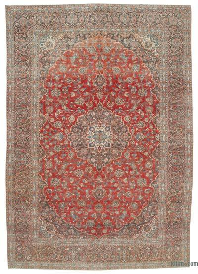 "Vintage Hand-knotted Oriental Rug - 9'10"" x 14' (118 in. x 168 in.)"