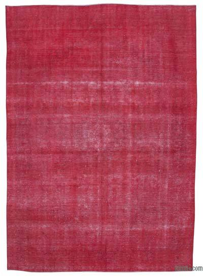 Red Over-dyed Vintage Rug - 9'4'' x 13'2'' (112 in. x 158 in.)