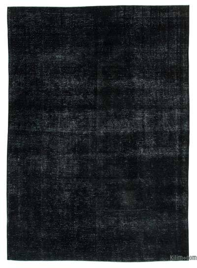 Black Over-dyed Turkish Vintage Rug - 9'5'' x 13'1'' (113 in. x 157 in.)