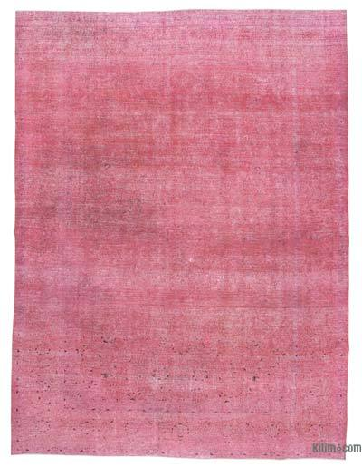 Pink Over-dyed Vintage Rug - 9'7'' x 12'9'' (115 in. x 153 in.)