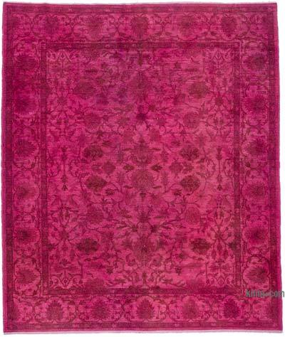 Pink Over-dyed Turkish Vintage Rug - 8'3'' x 9'11'' (99 in. x 119 in.)