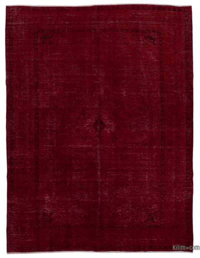 Red Over-dyed Vintage Rug - 9'4'' x 12'3'' (112 in. x 147 in.)