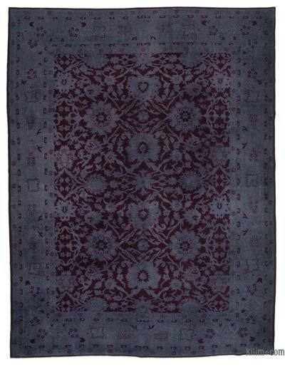 "Over-dyed Vintage Hand-knotted Oriental Rug - 9'2"" x 11'8"" (110 in. x 140 in.)"